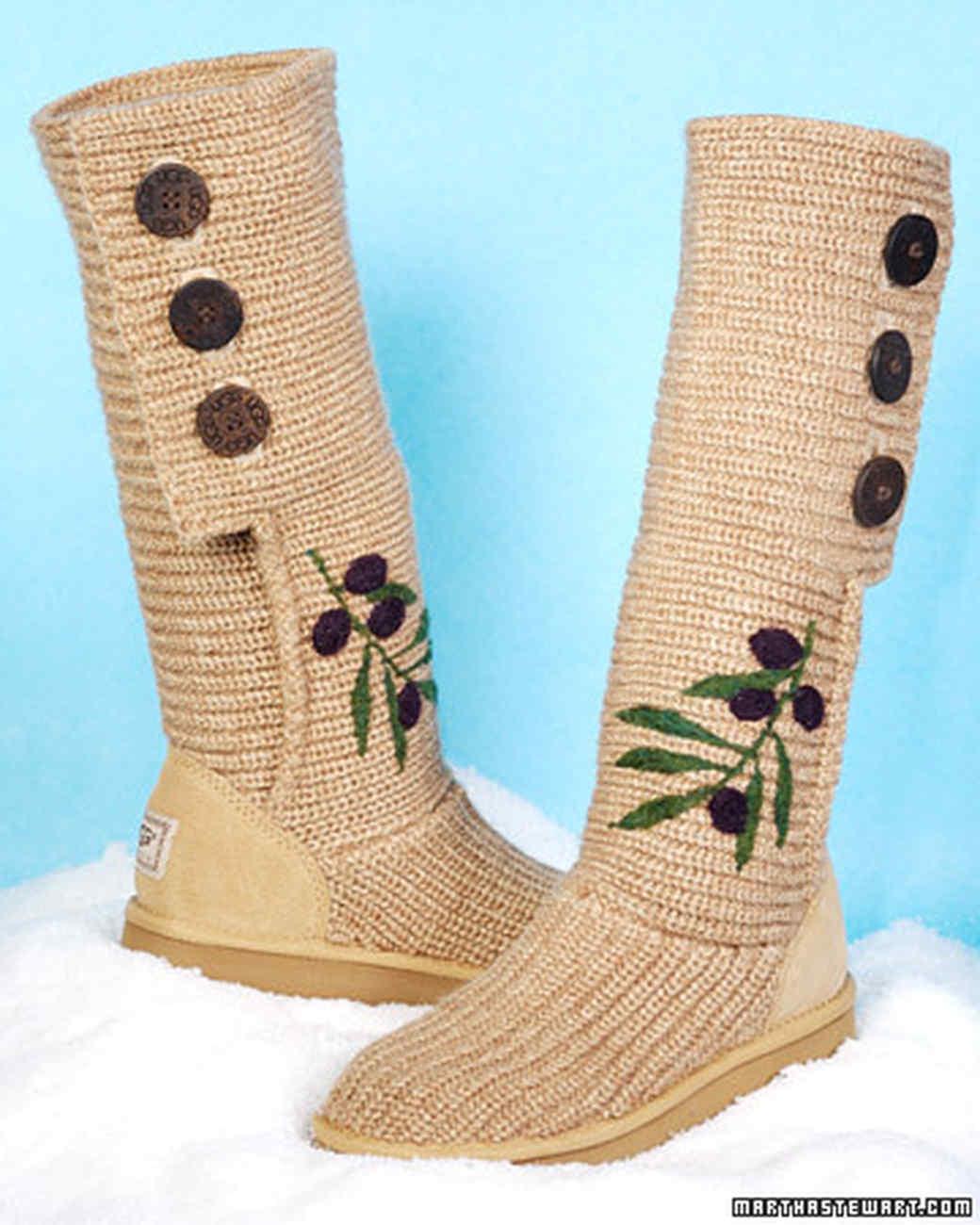 Embellished Felted Ugg Boots