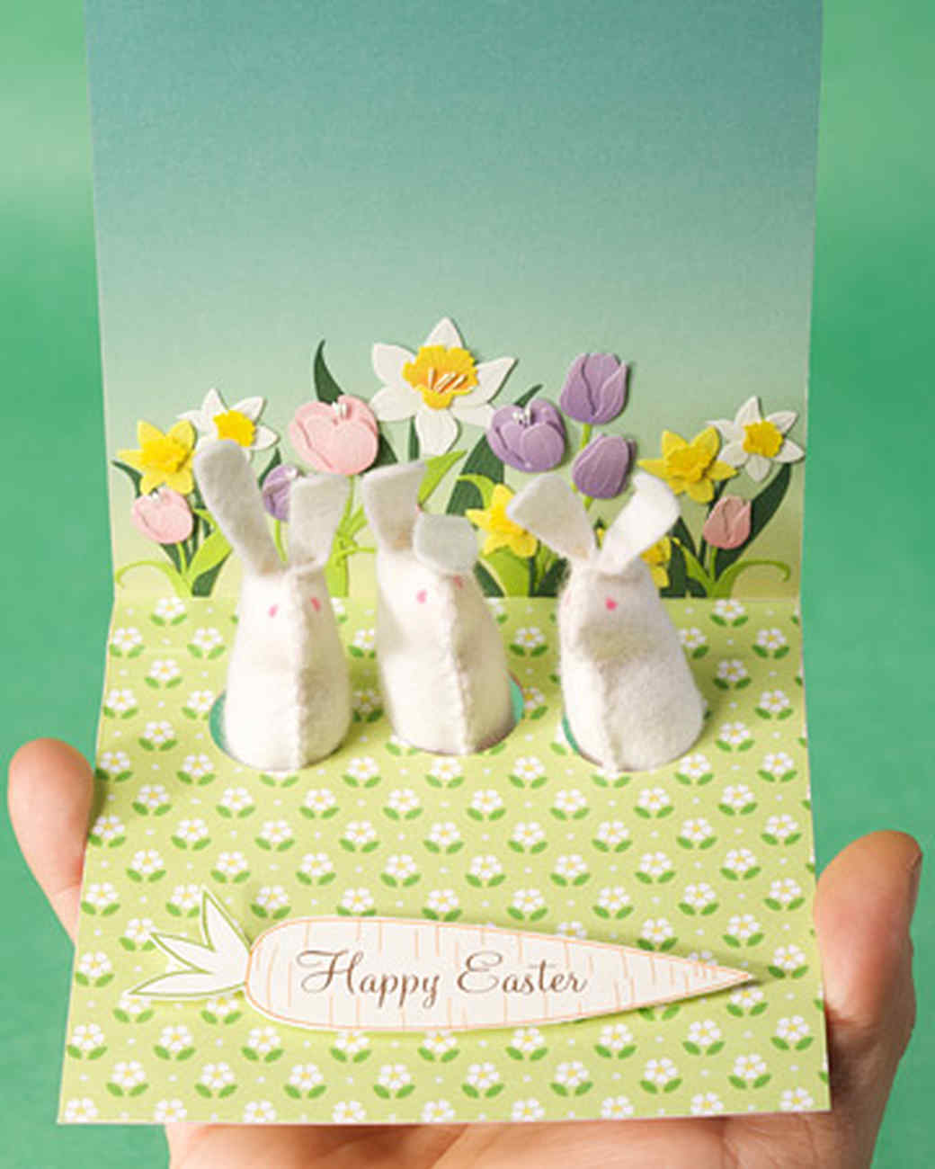 Rabbit Finger-Puppet Card and Egg Cozy