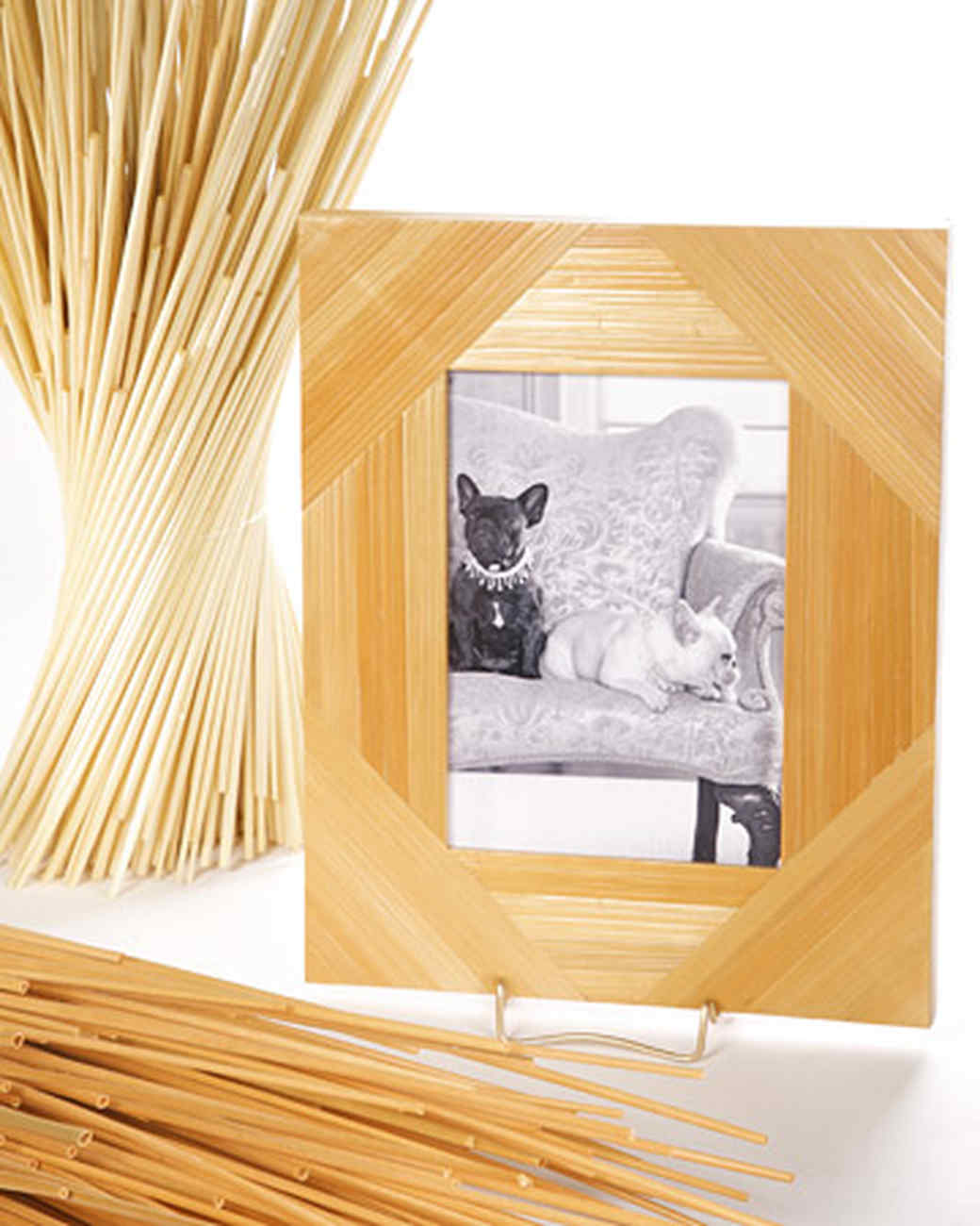 Straw Marquetry Picture Frame