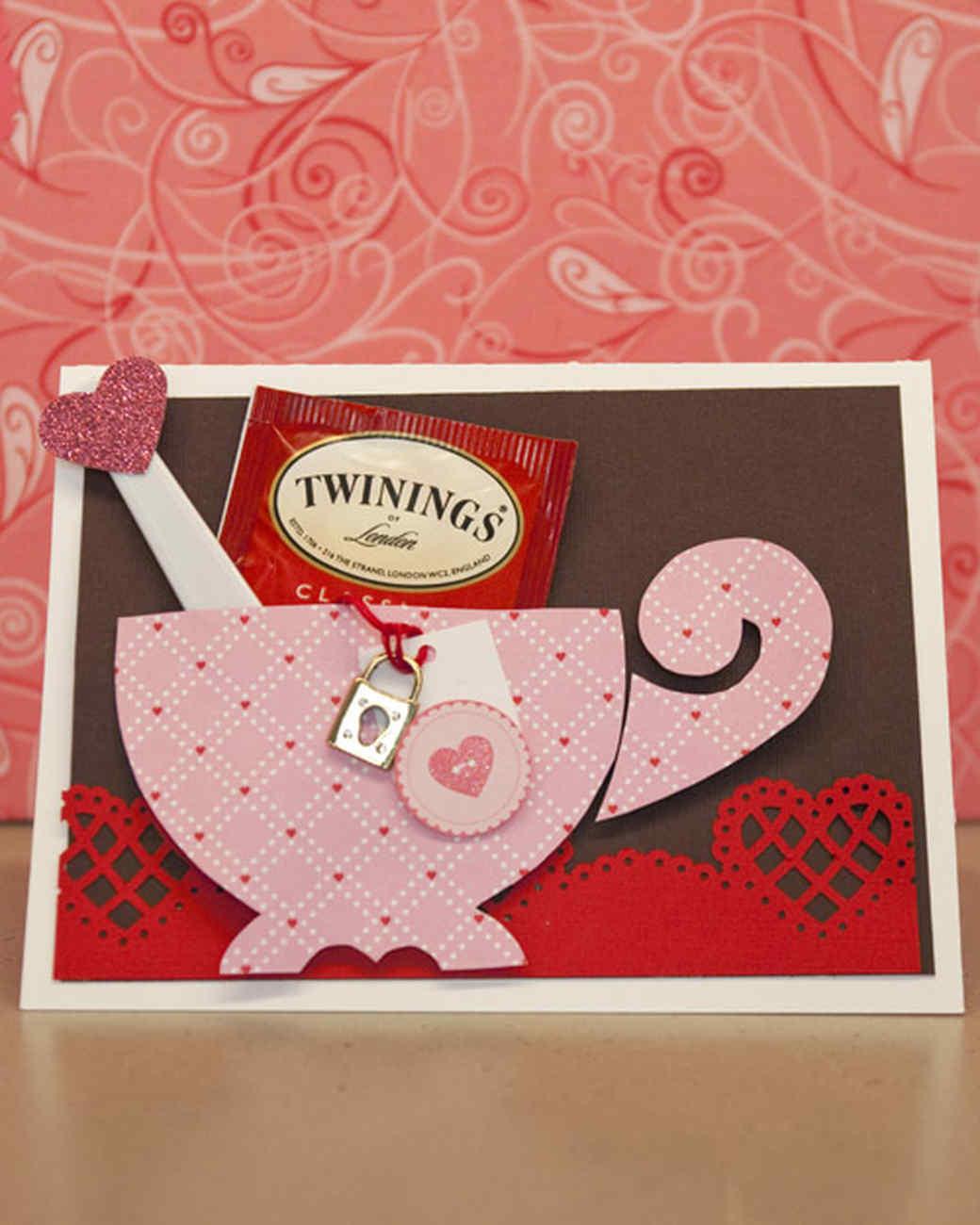 Teacup Valentine's Day Card