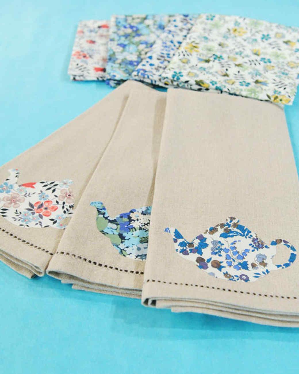 Teapot Applique Tea Towels Video Martha Stewart