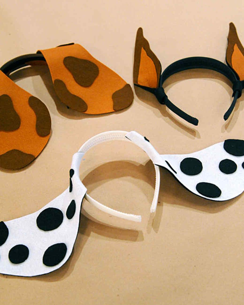 Dalmatian Ears Felt Puppy Ears
