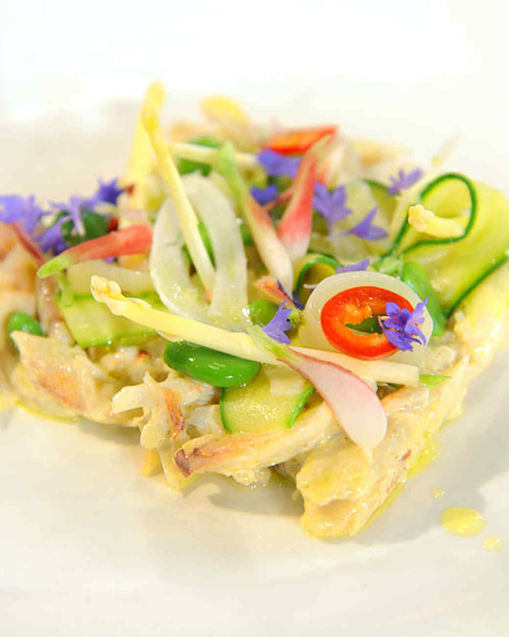 Peekytoe Crab Salad with Spring Vegetables