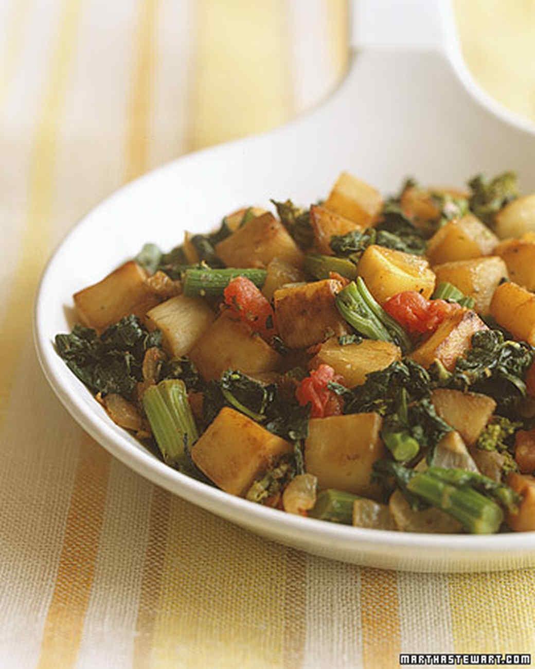 Turnip Hash with Broccoli Rabe