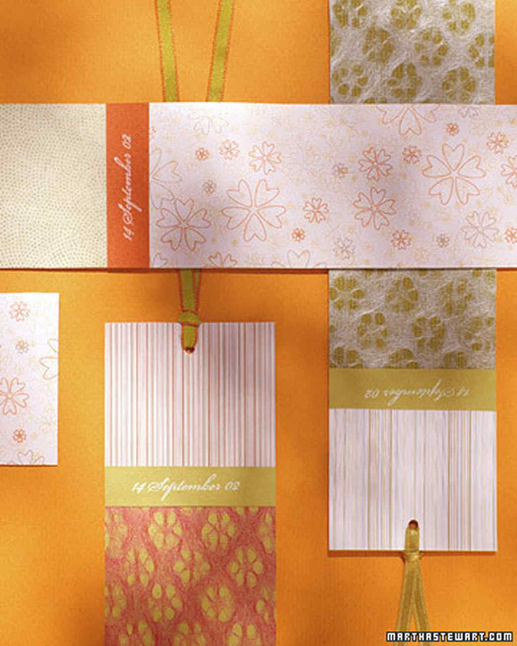Patterned Bookmarks
