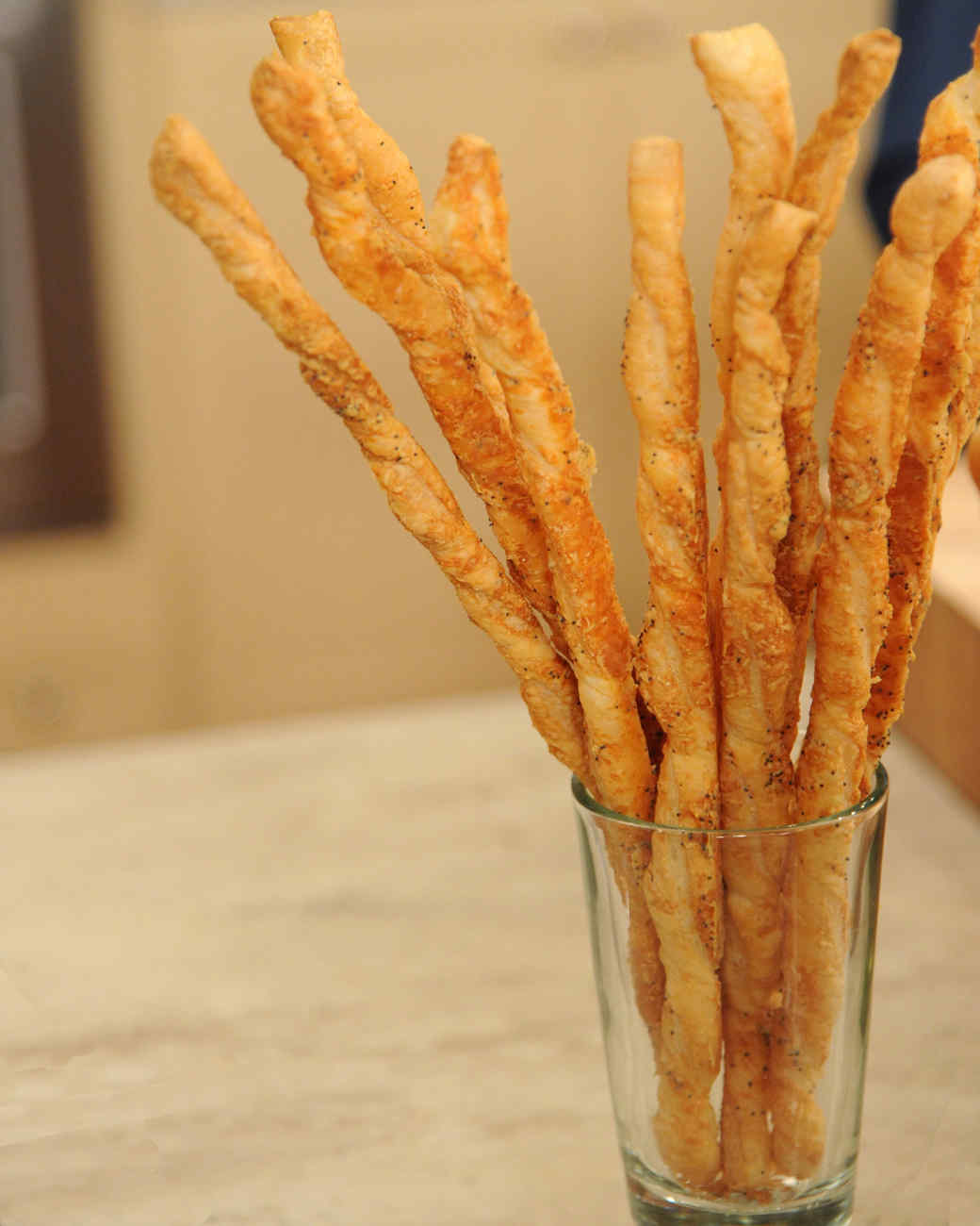 French Cheese Straws Recipe & Video | Martha Stewart
