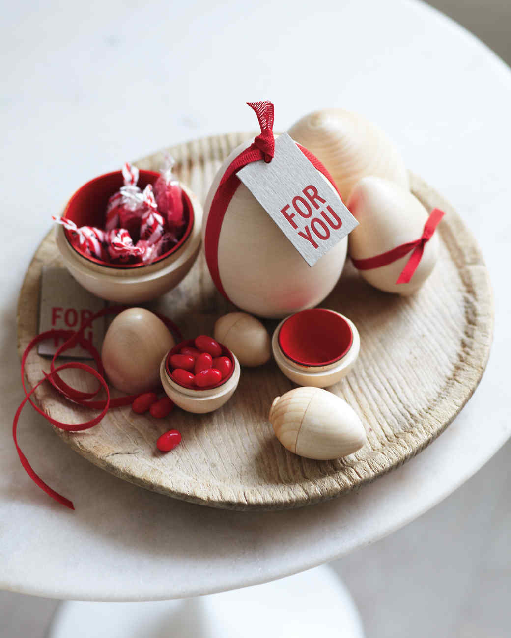 Painted Nesting Eggs and Candle Holder