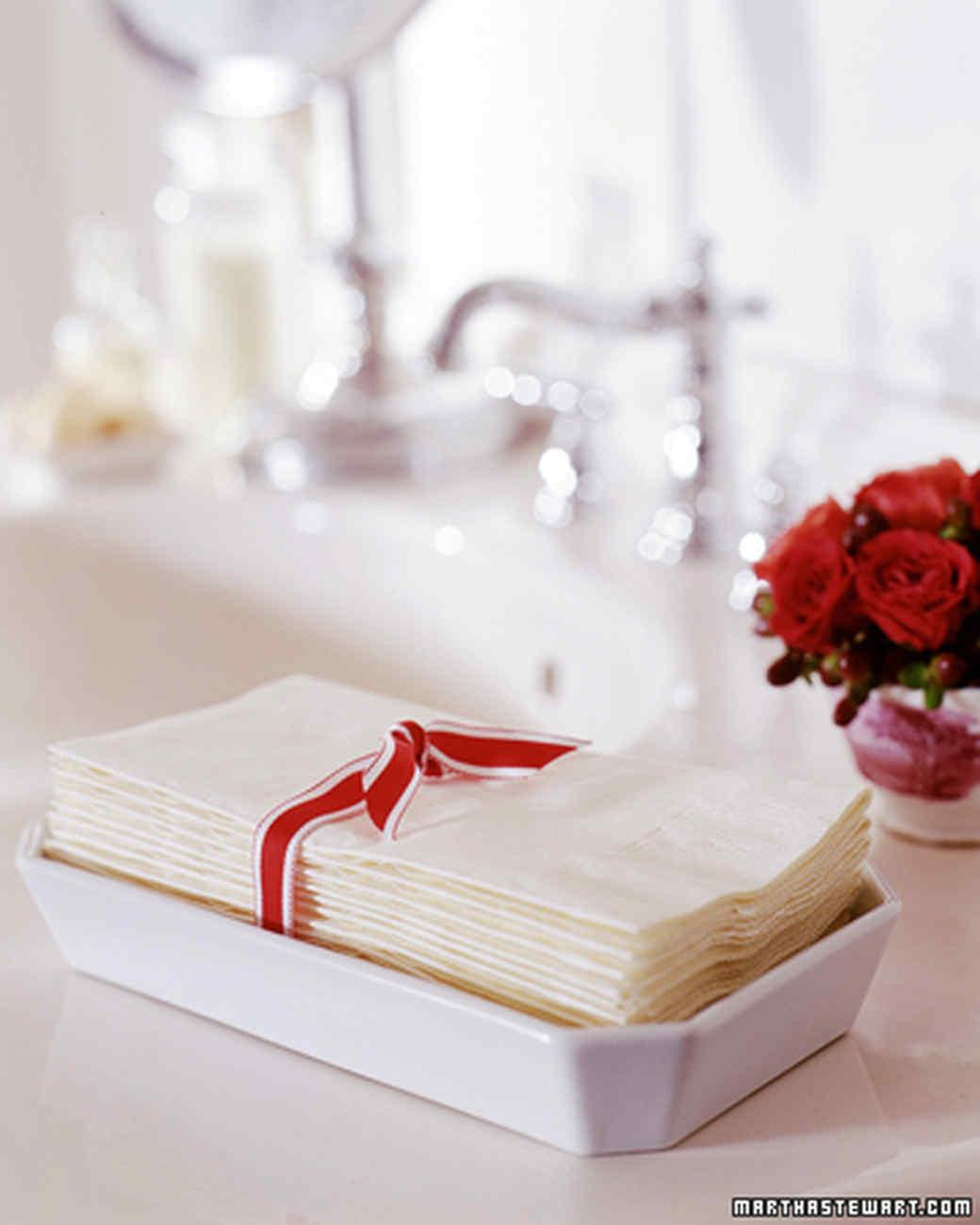 Prepping For Houseguests Martha Stewart - Bathroom paper guest towels for bathroom decor ideas