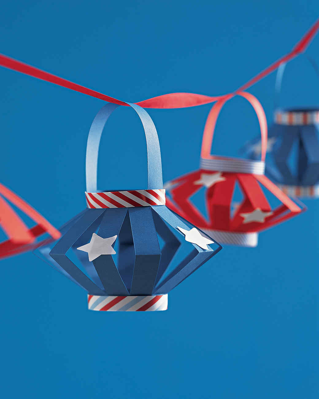 Patriotic Red White And Blue Crafts And Party