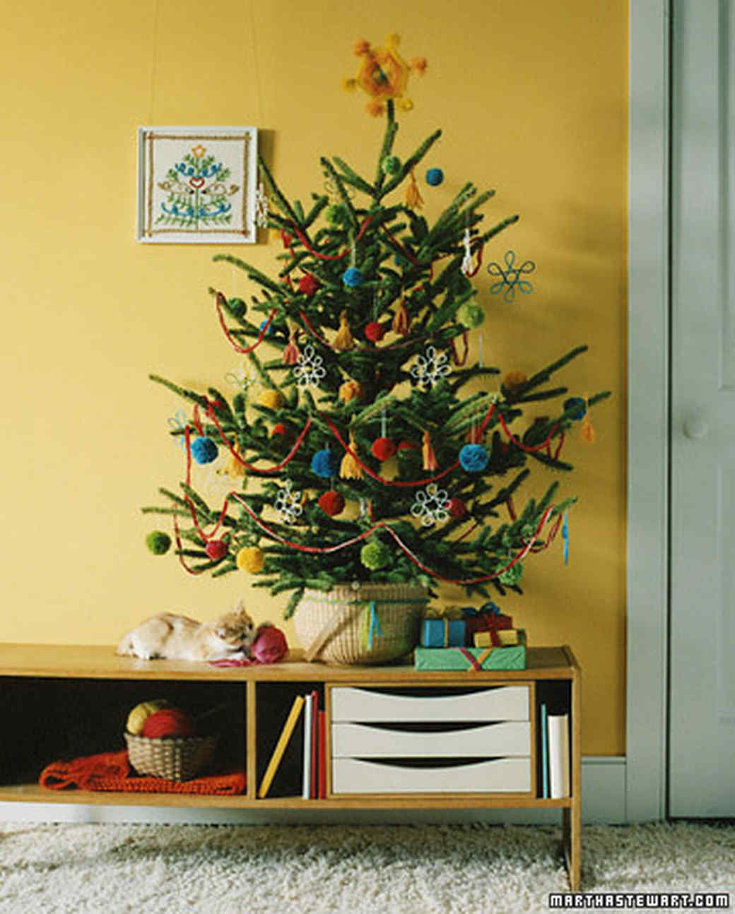 Four Homemade Trees: Yarn