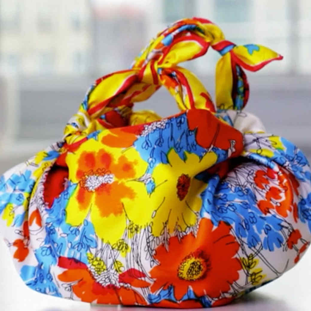 Knotted Handkerchief Handbag