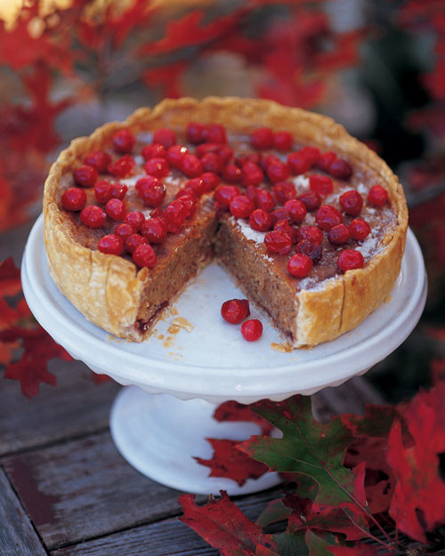 Cranberry, Almond, and Cinnamon Tart