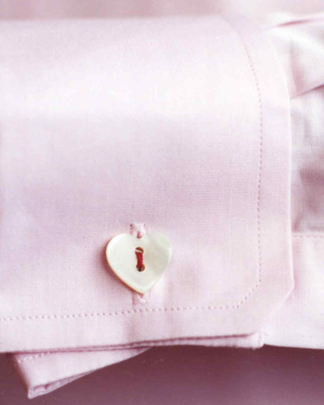 Button-Heart Cuff Links