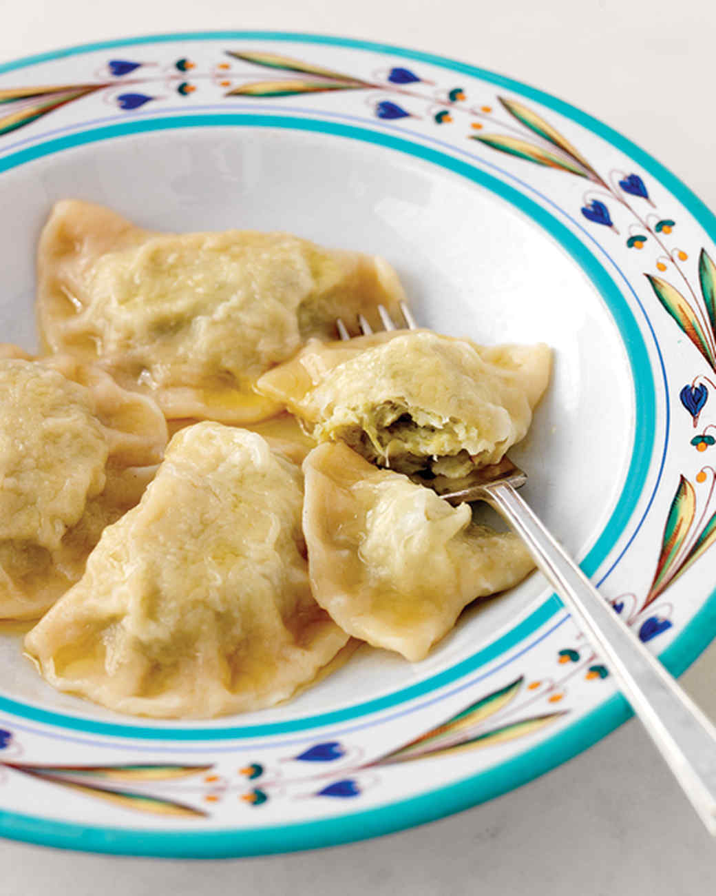 Pierogi with Cabbage Filling and Clarified Butter