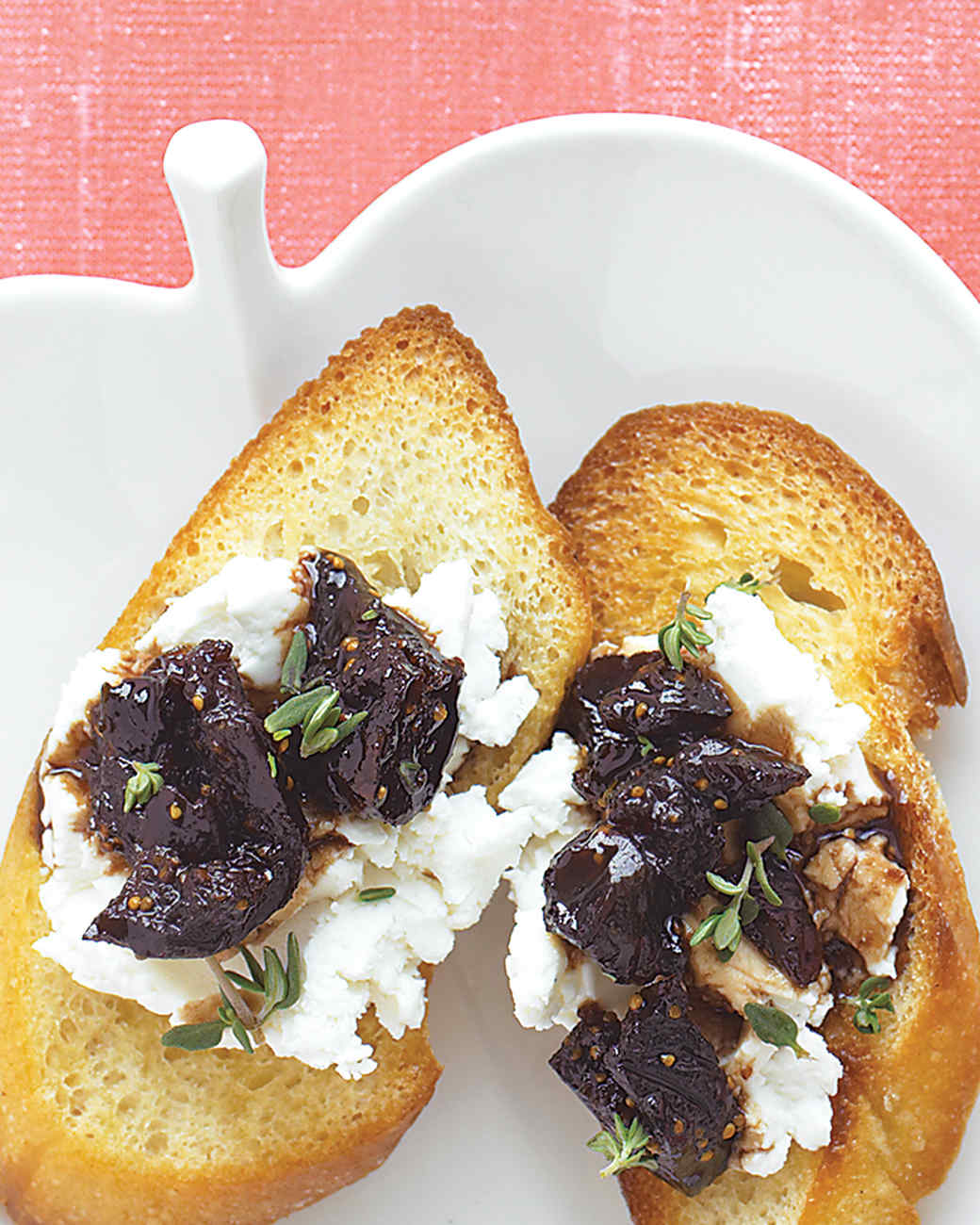 Goat-Cheese Crostini with Fig Compote