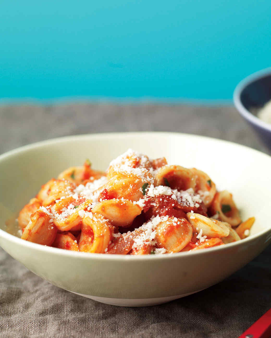 Orecchiette with Bacon and Tomato Sauce