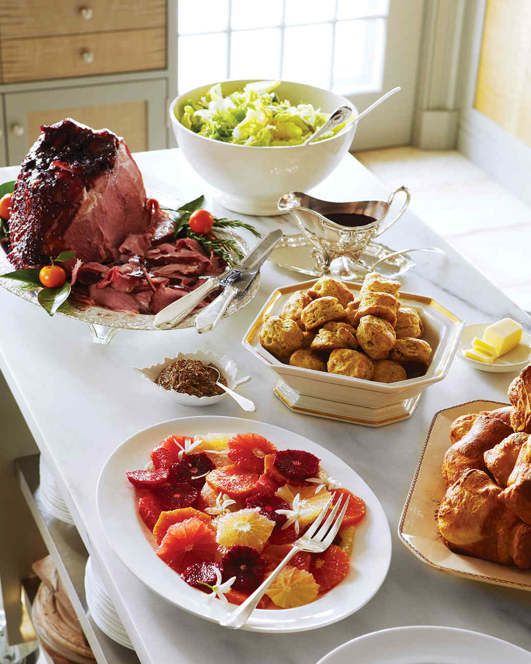 Martha Stewart Christmas Party Ideas Part - 21: Ham With Currant-Rosemary Glaze