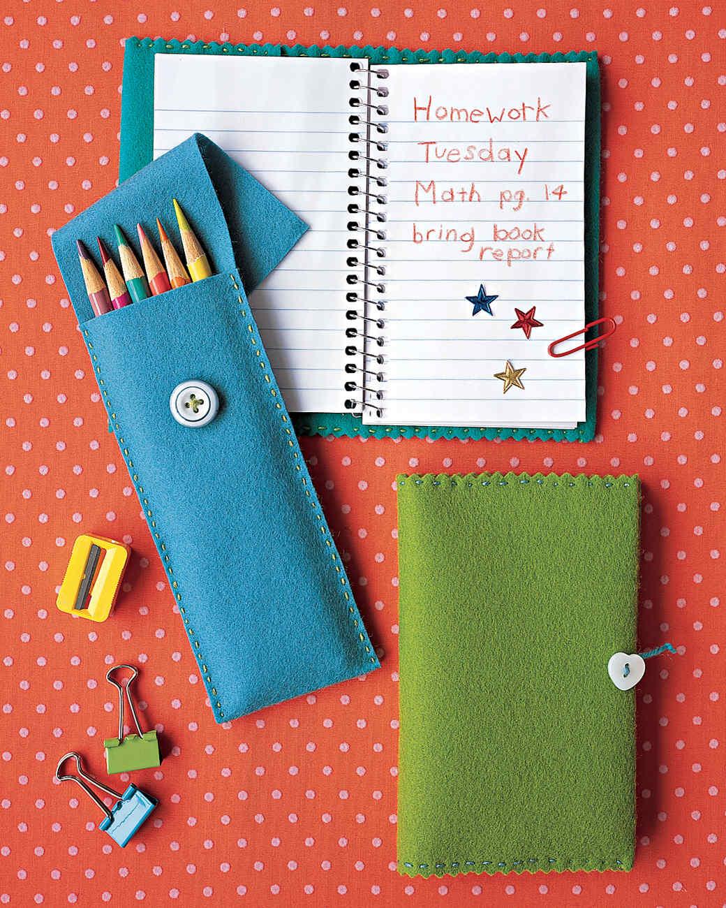 Felt pencil case for School diy ideas