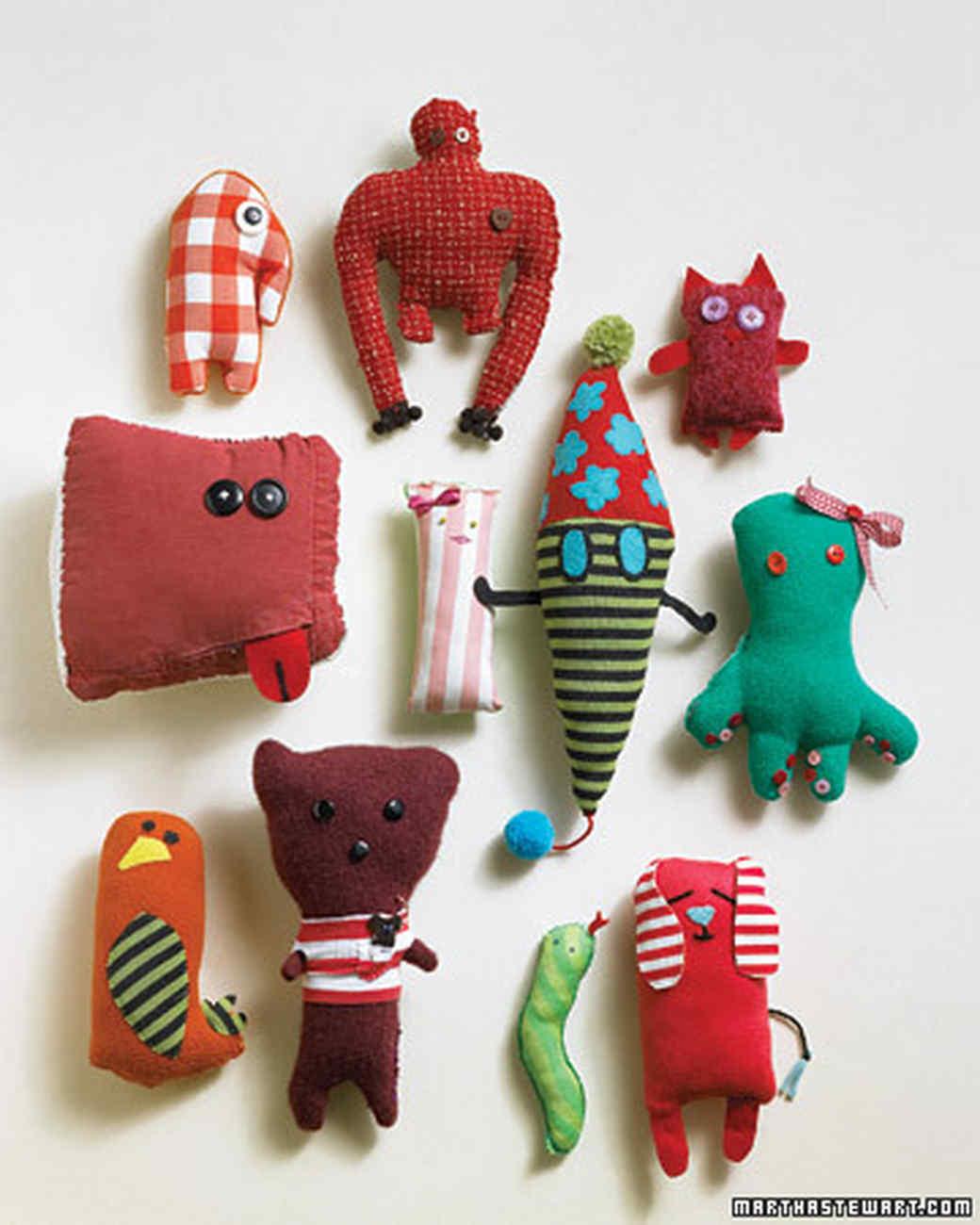 Handmade Craft Ideas For Kids Part - 16: Stuffed Animals From Kidsu0027 Drawings