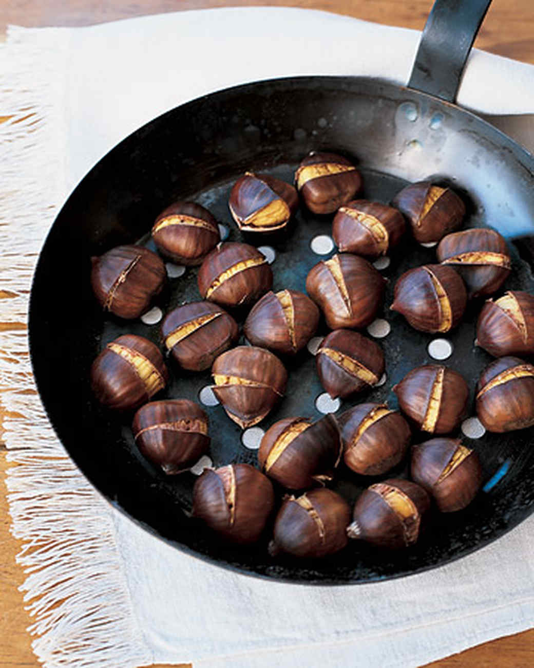 How to cook a roasted chestnut and dishes from it