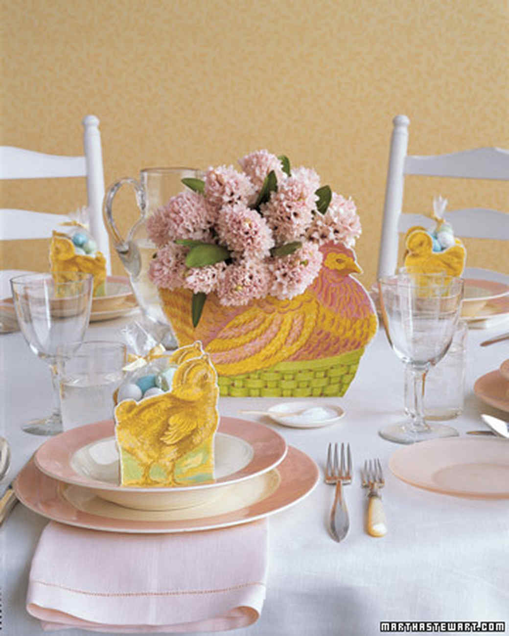 Hen Centerpiece Adorn Your Spring Party Table