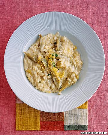 Artichoke Risotto with Mascarpone, Lemon, and Thyme
