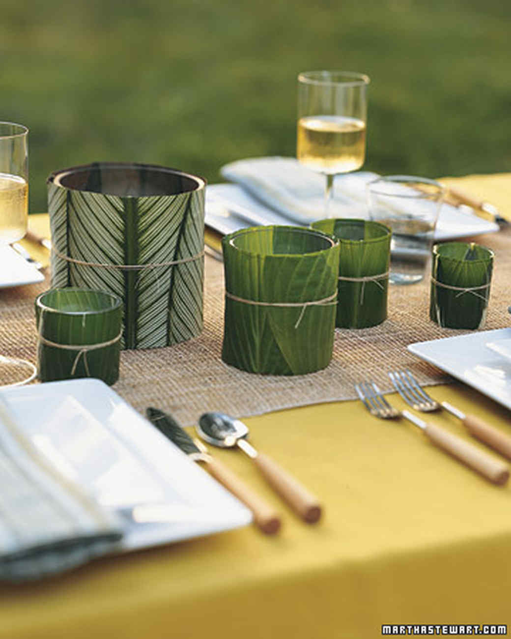 Leaf Covered Candleholder Martha Stewart