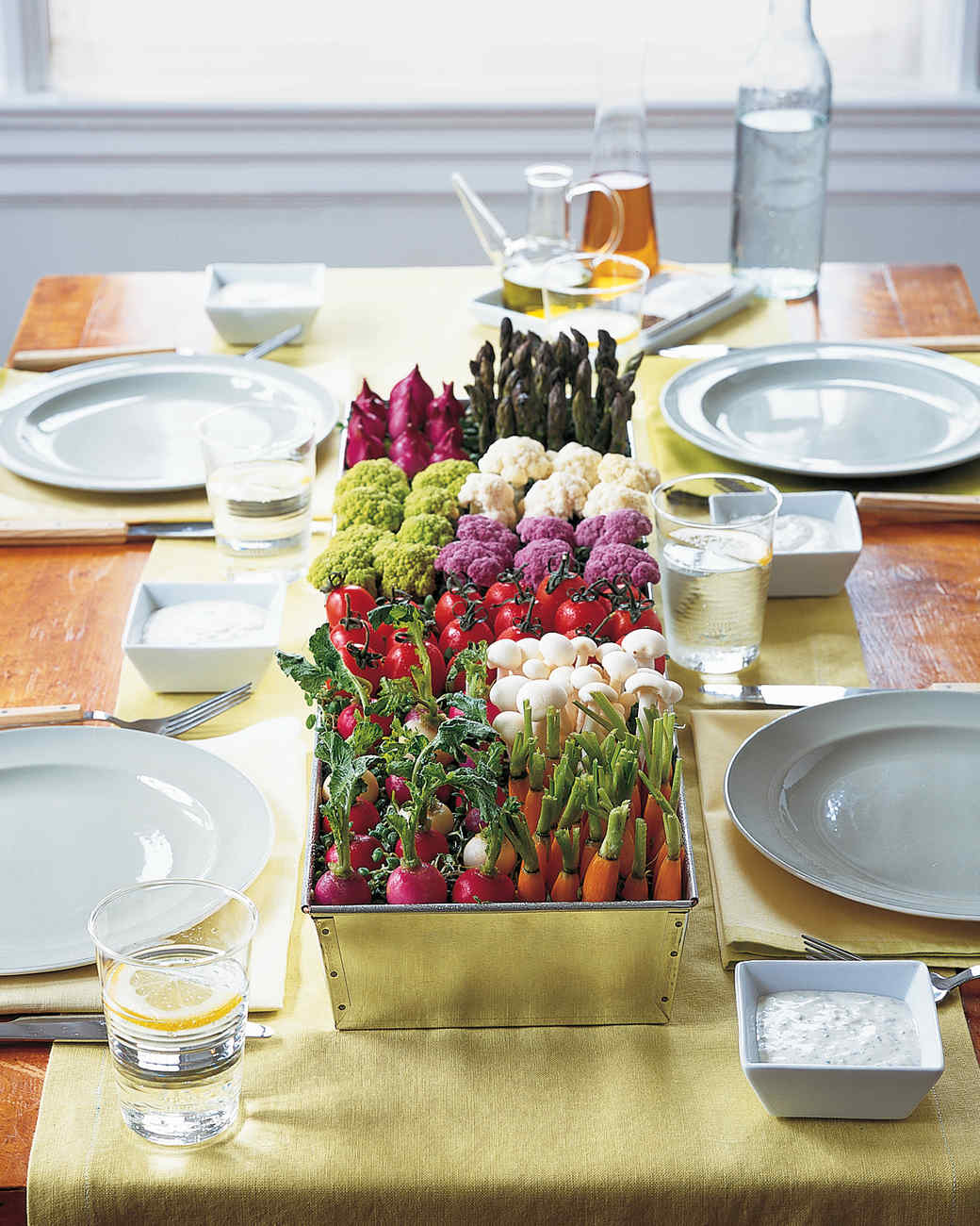 New Ways to Serve Crudite: It's a Farmers' Market After-Party!