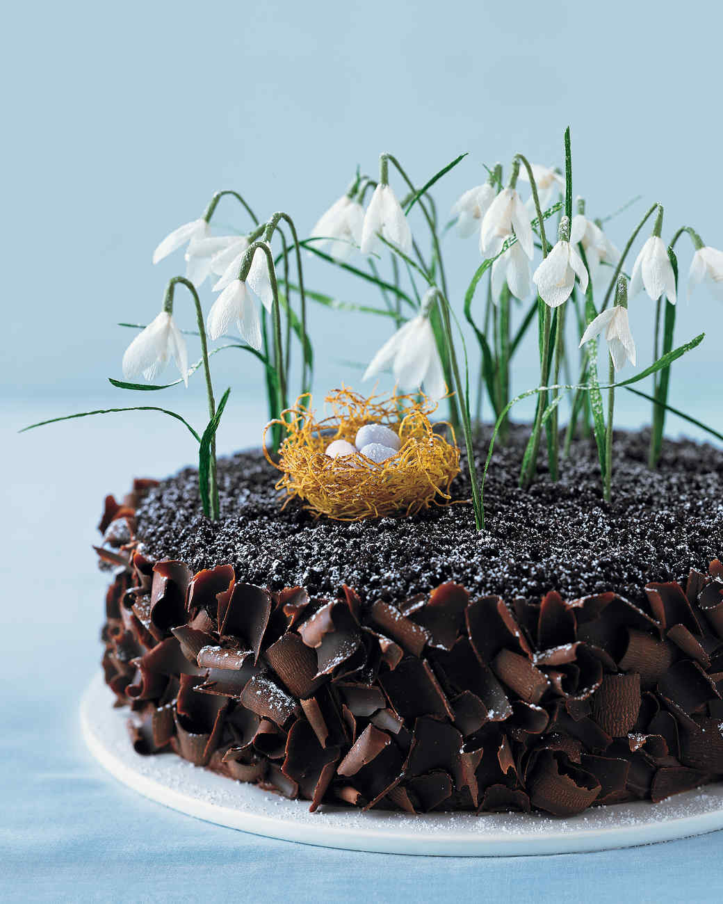 Chocolate Cake with Crepe Paper Flowers and a Phyllo Nest Recipe ...