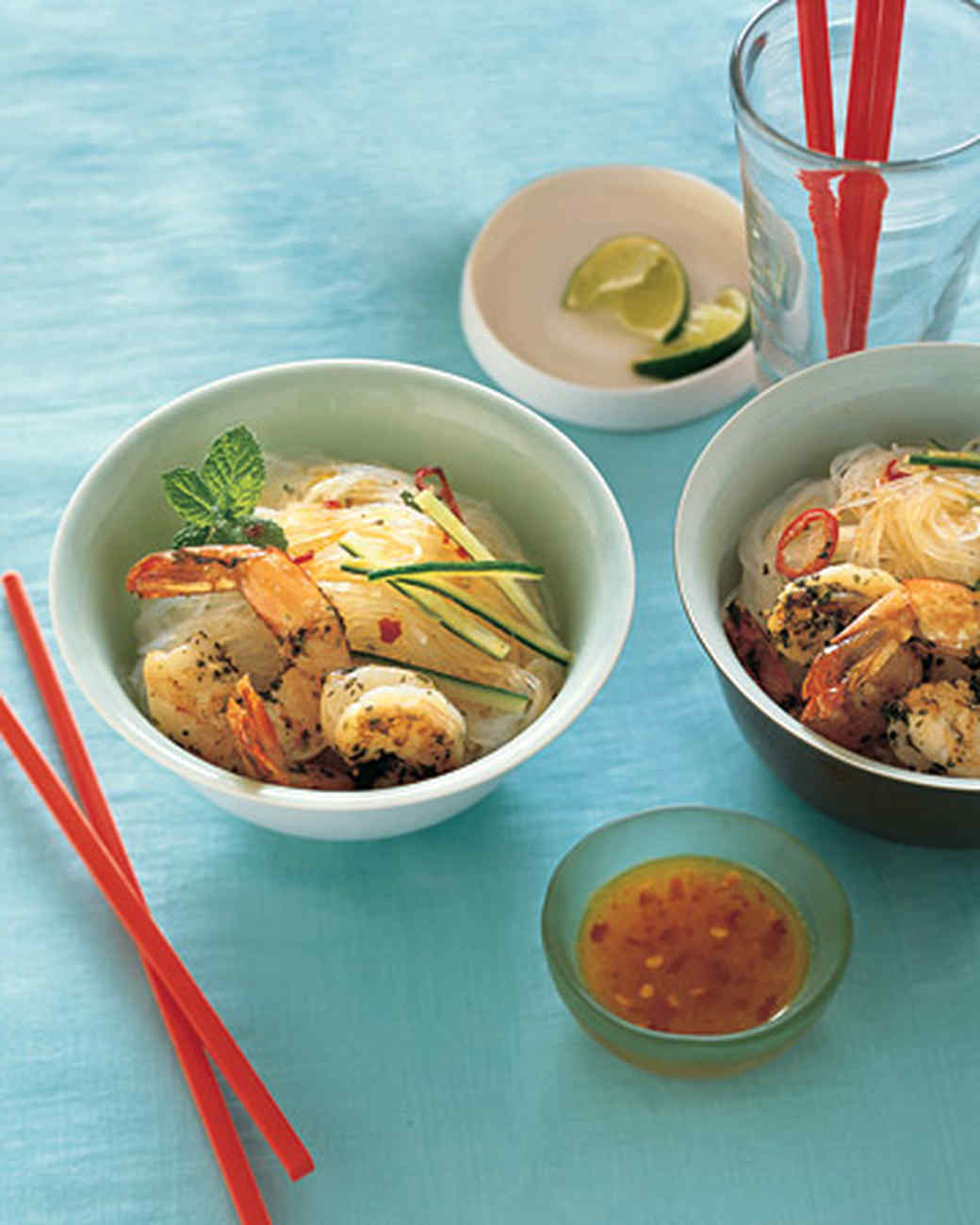 Mint-Marinated Shrimp with Glass Noodles