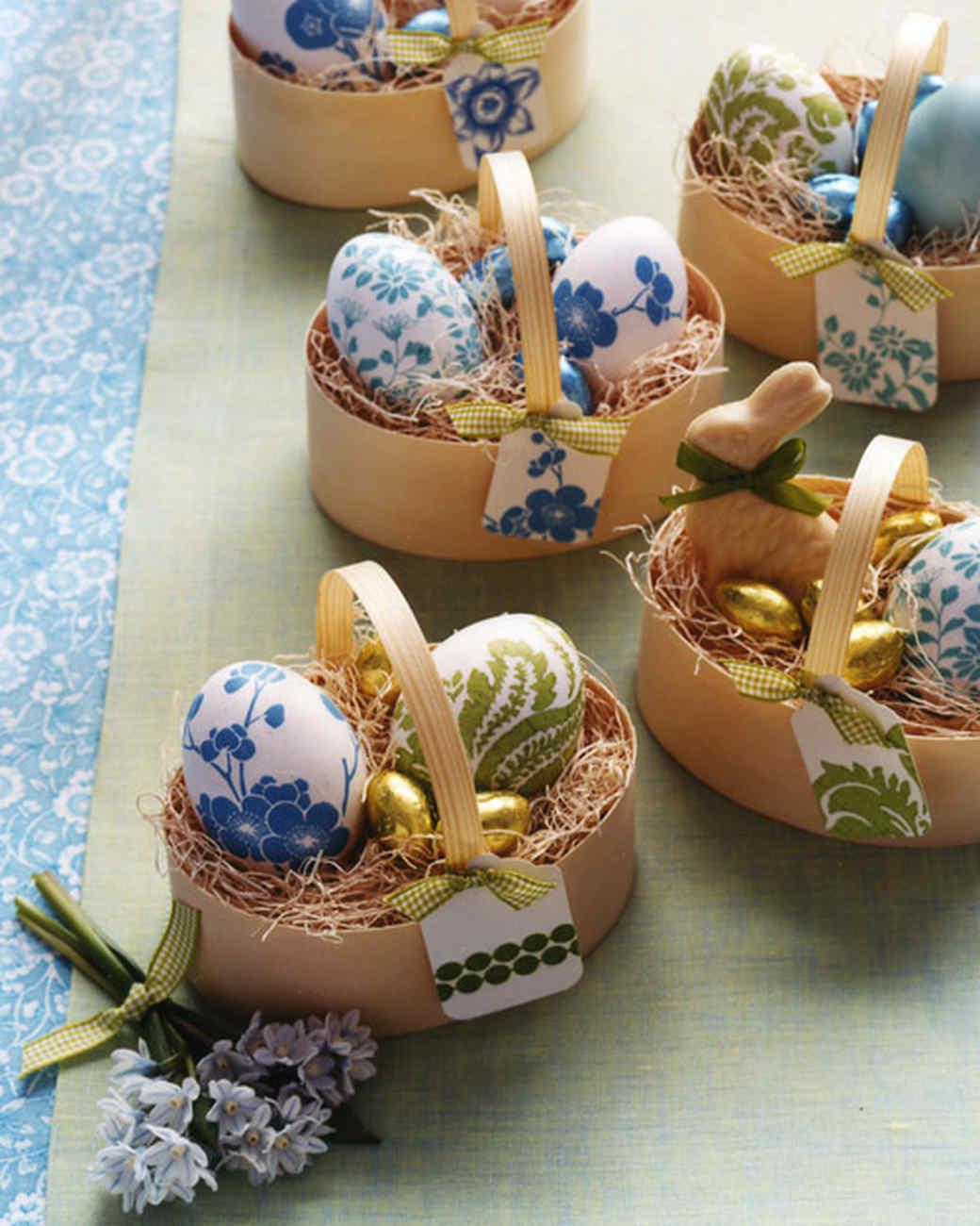 Paper-Napkin Decoupage Eggs