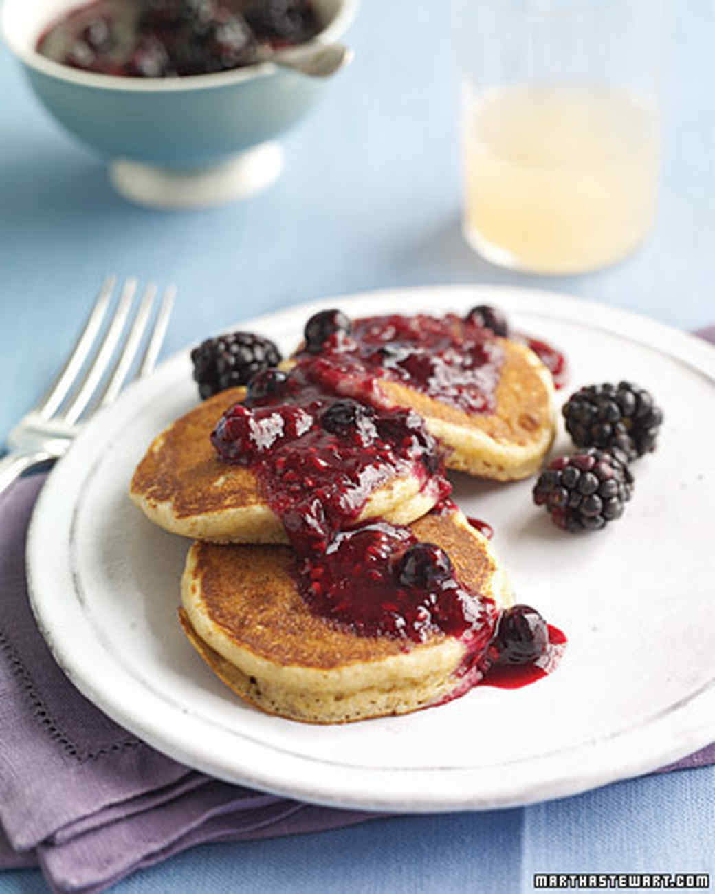 Whole-Wheat Pancakes with Berry Compote
