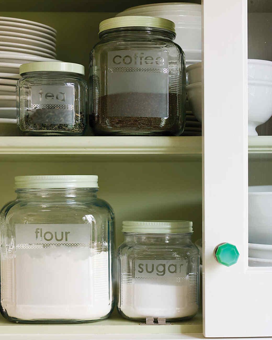 Etched Glass Storage Jars Martha Stewart