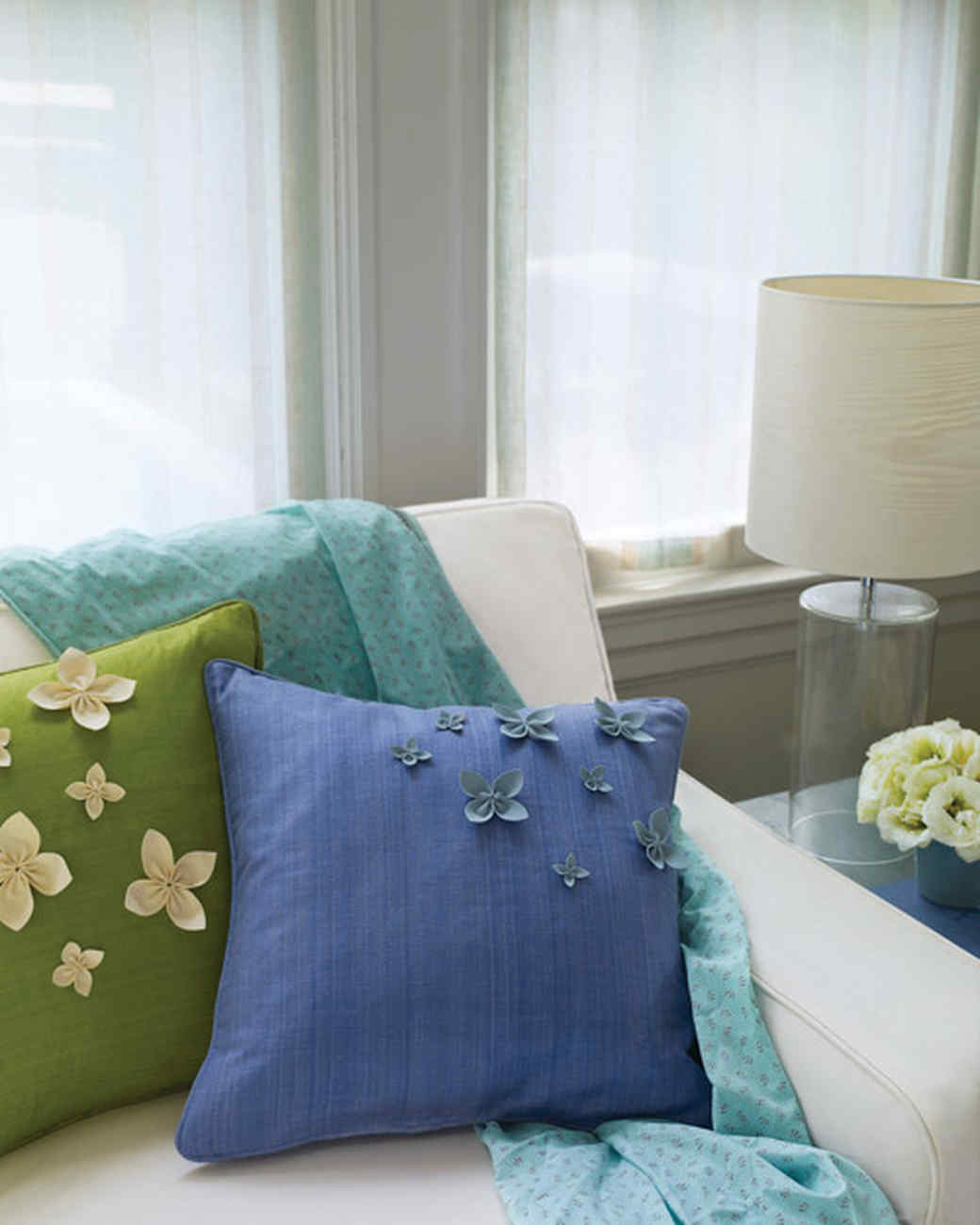 Floral Pillows with Ultrasuede Petals