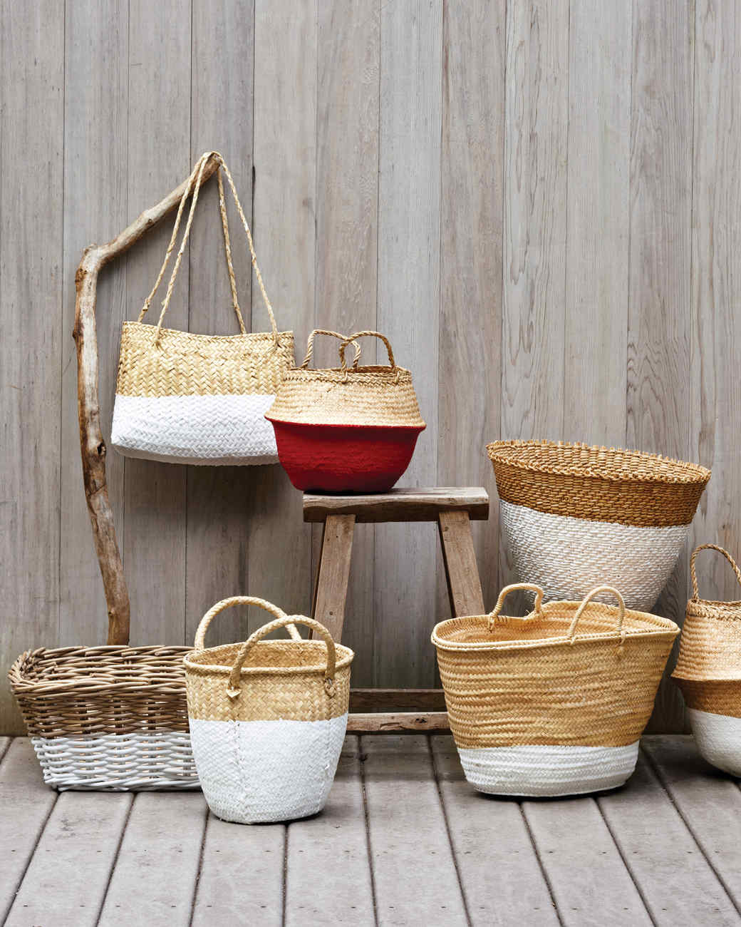 Dip Dye Baskets, Martha Stewart