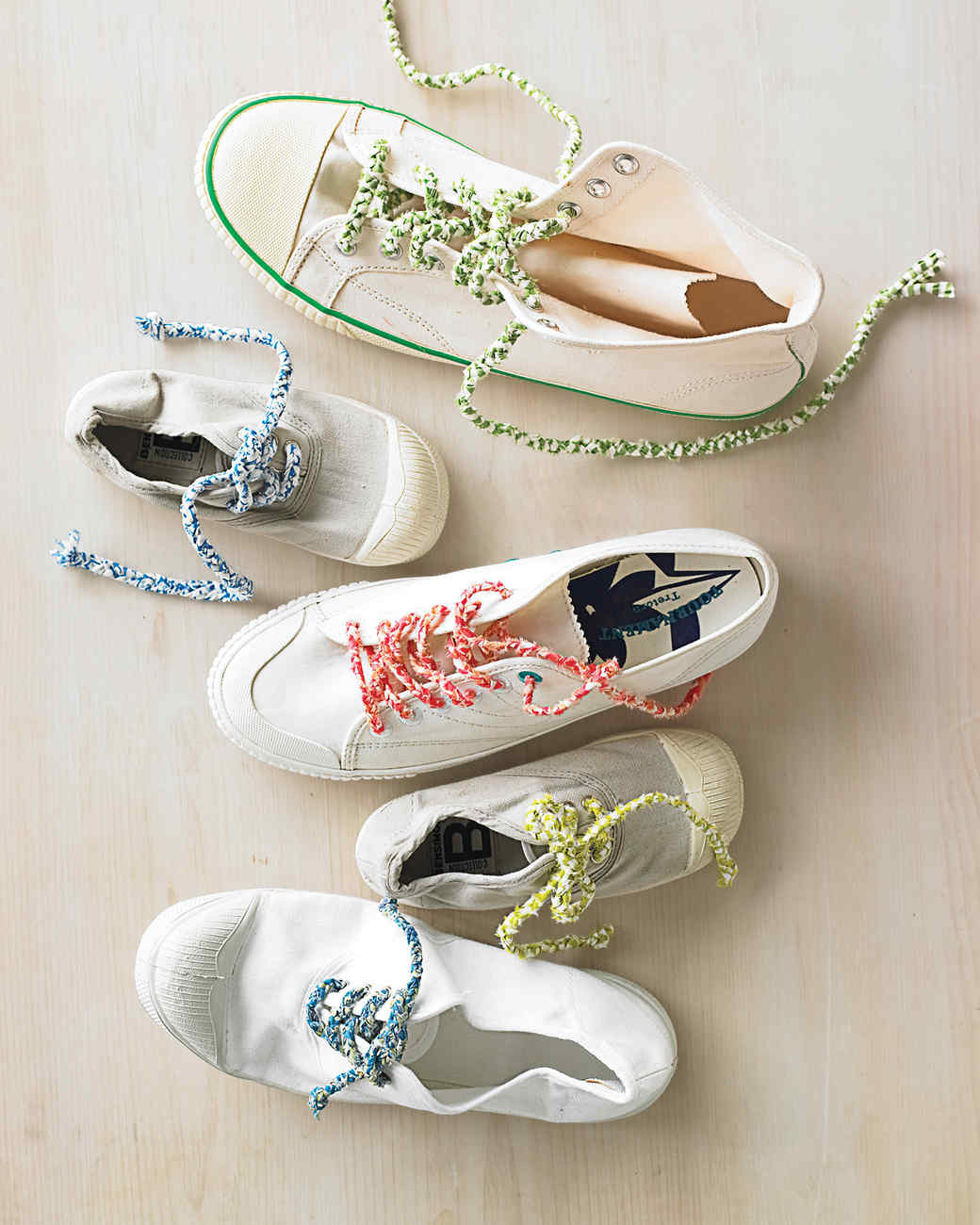 Sneakers with Braided Shoelaces