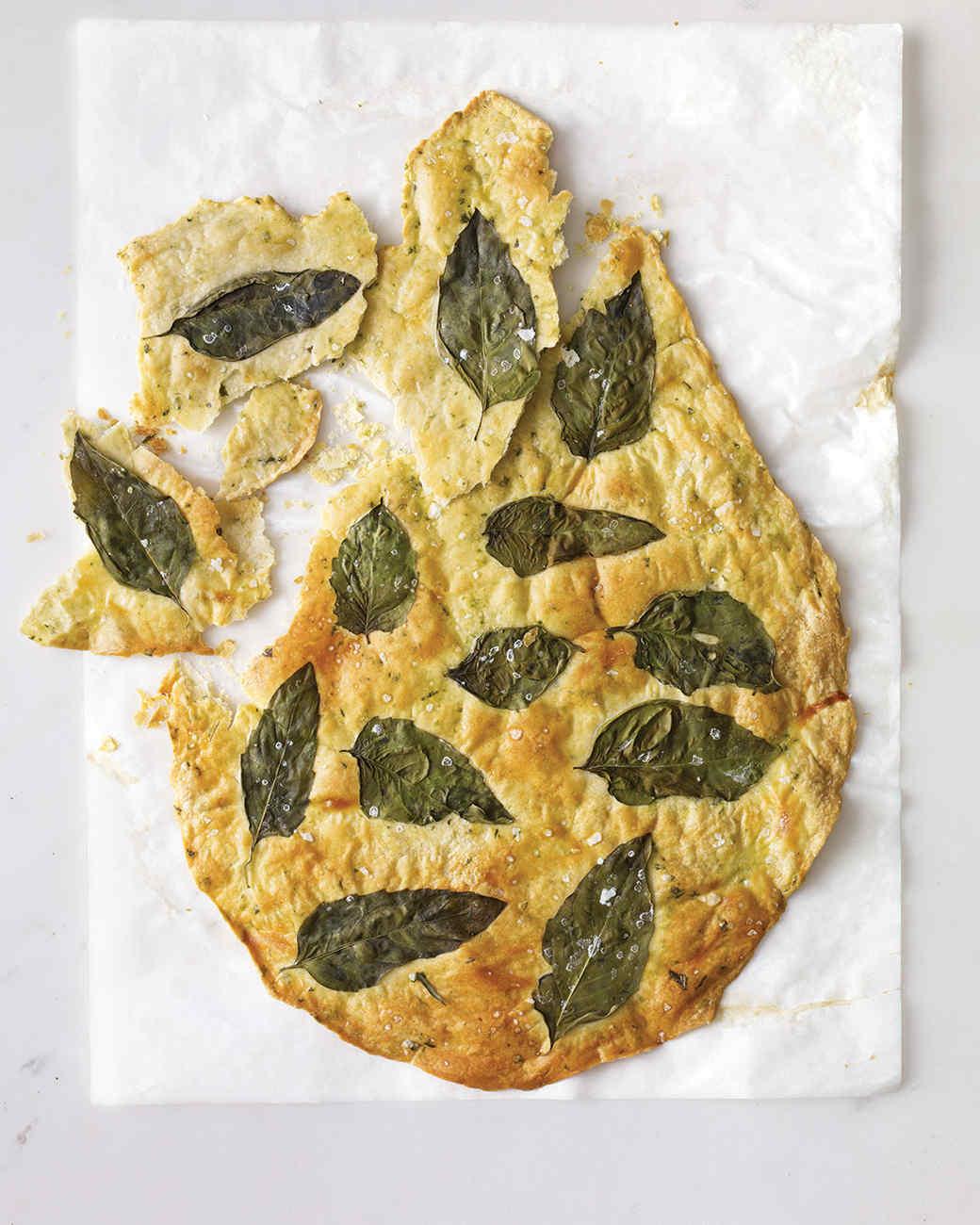 Basil Flatbread Crackers