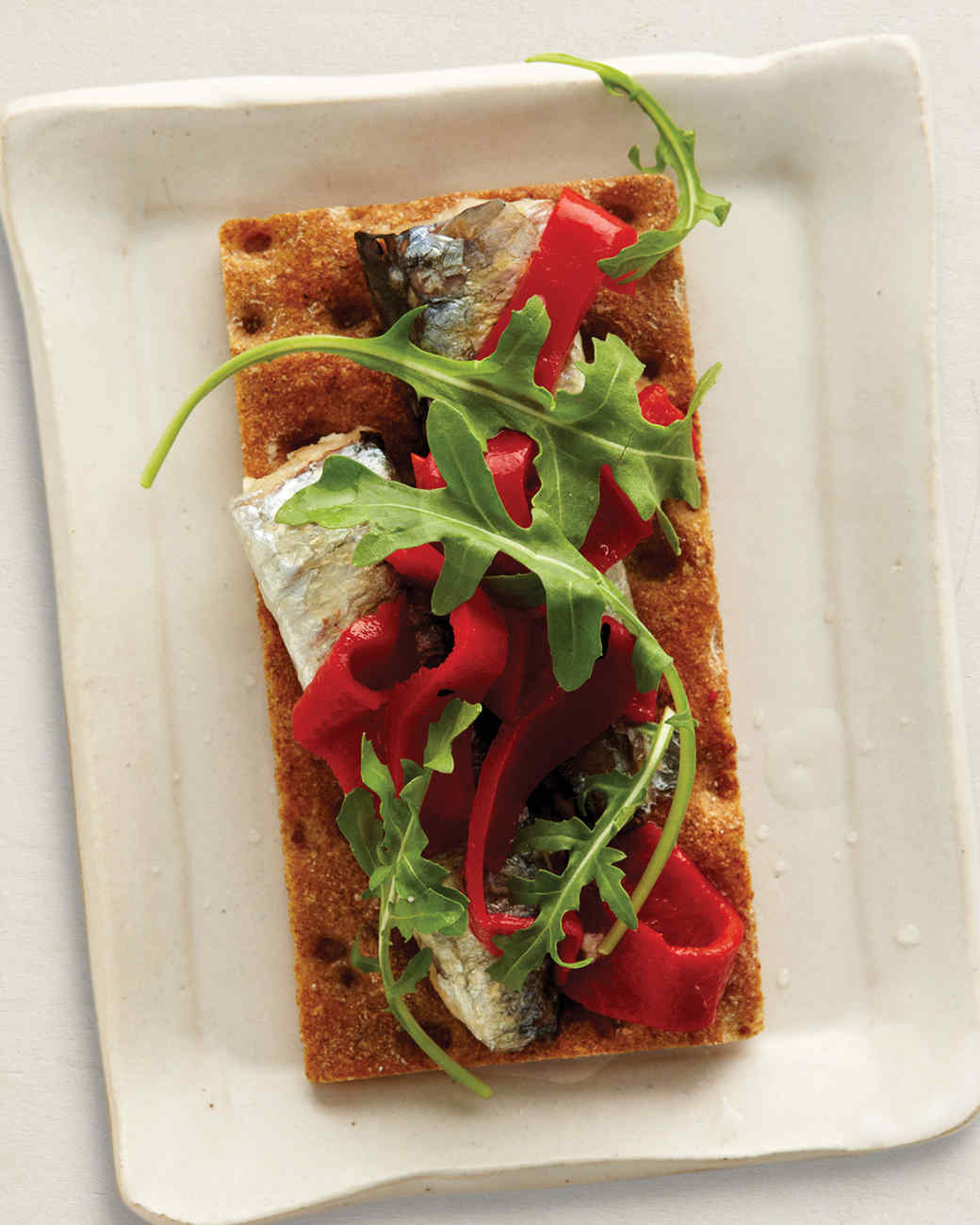 Sardine-and-Pepper-Topped Cracker