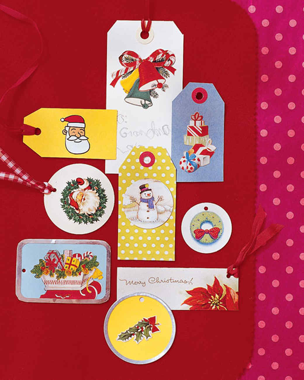 Recycled christmas card crafts martha stewart holiday card gift tags negle Image collections