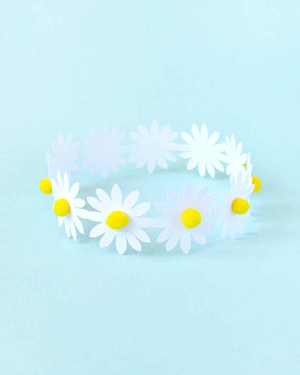 paper daisy crown