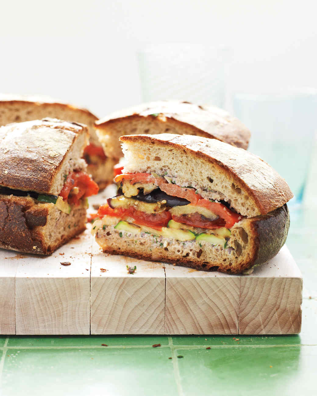 Grilled Ratatouille Muffaletta