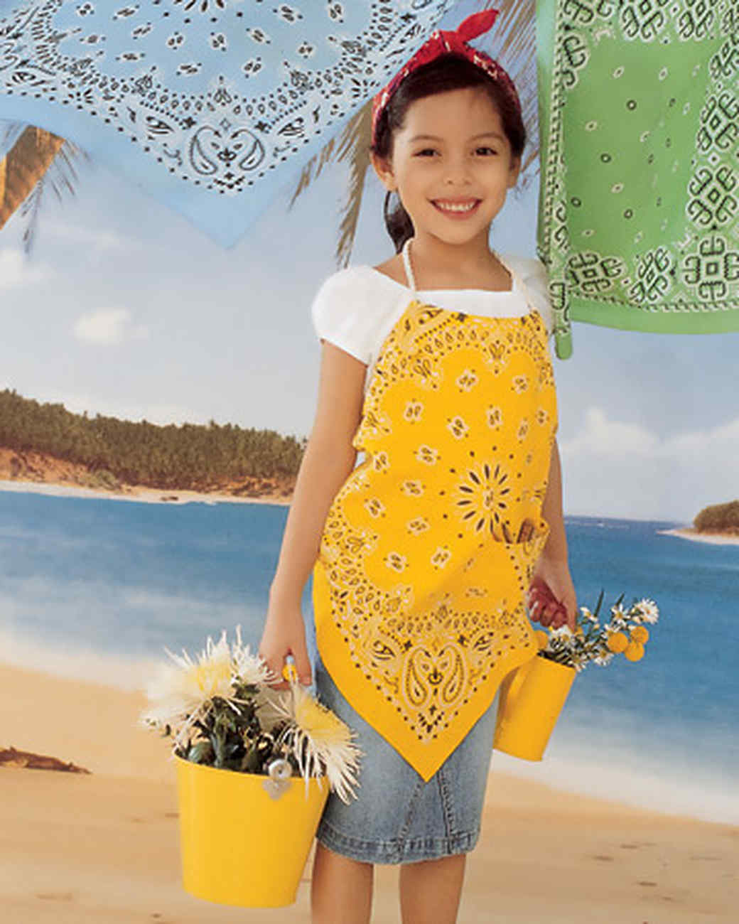 Bandanna Clothing Crafts: Beachcomber Apron and Necktie