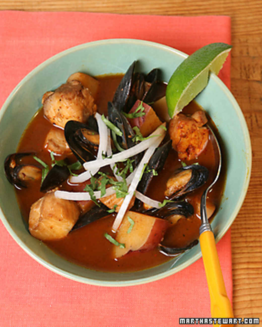 Rick Bayless's Red Chile Seafood Soup
