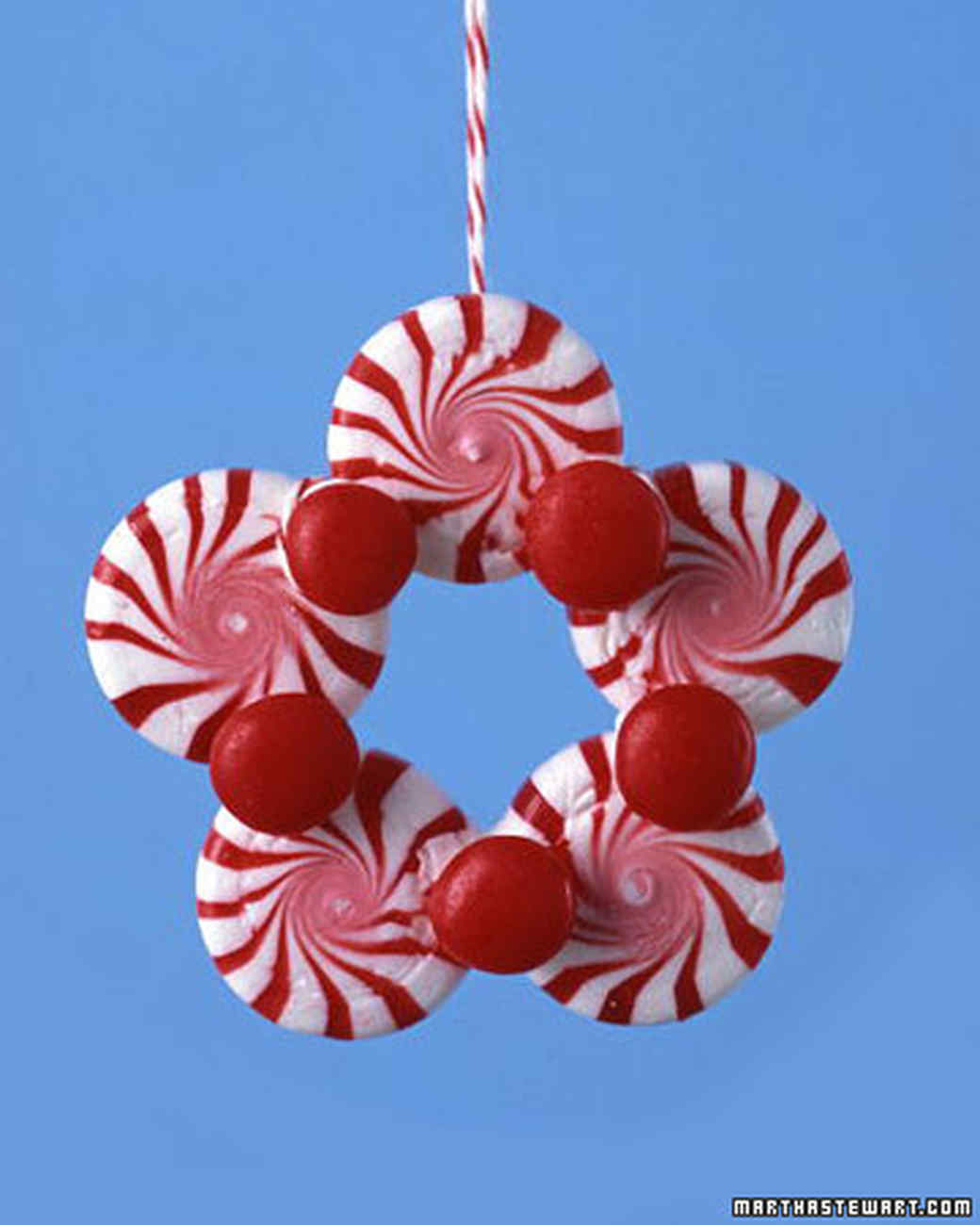 peppermint ornaments - Peppermint Christmas Decorations