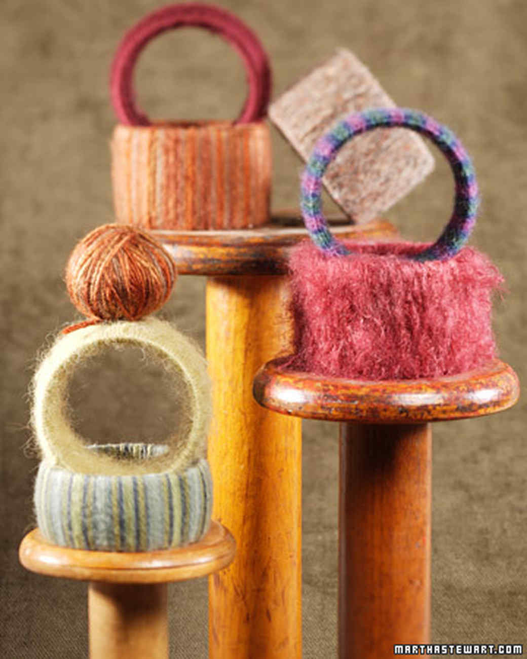 Wool-Wrapped Bangles