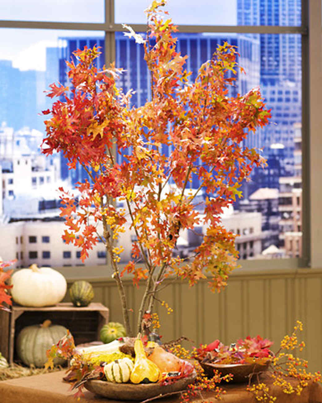 Autumn branch centerpiece step by diy craft how