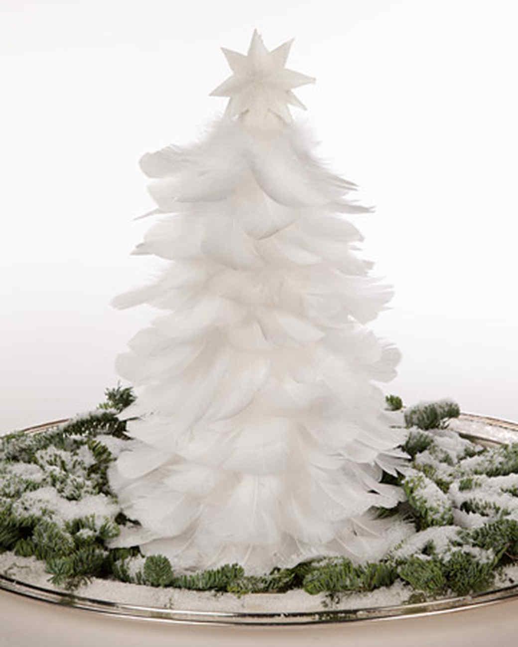 Feather Christmas Tree & Video | Martha Stewart