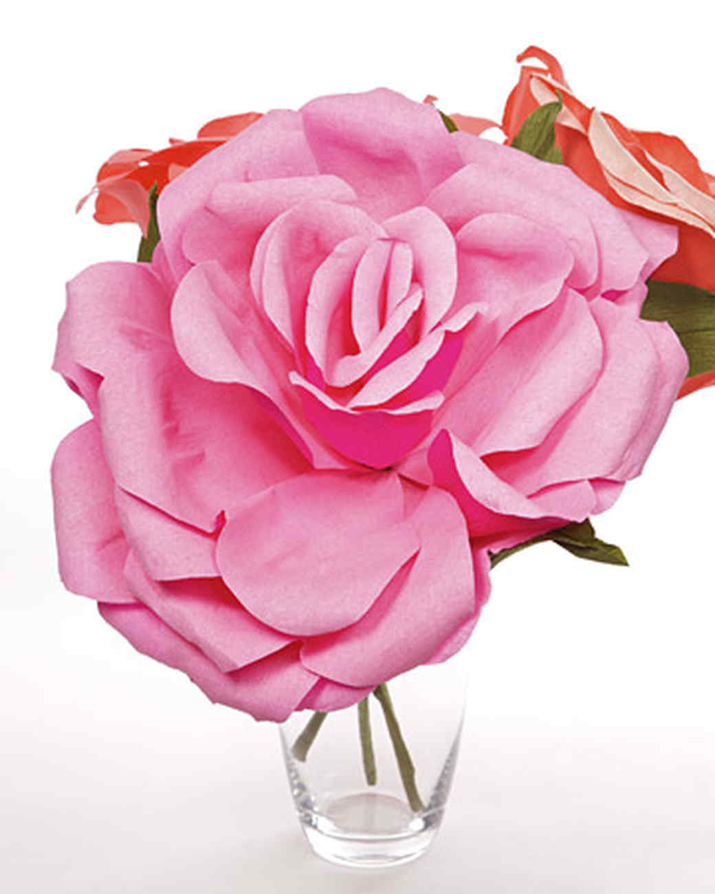 Crepe paper roses video martha stewart crepe paper roses these large crepe paper flowers mightylinksfo Images