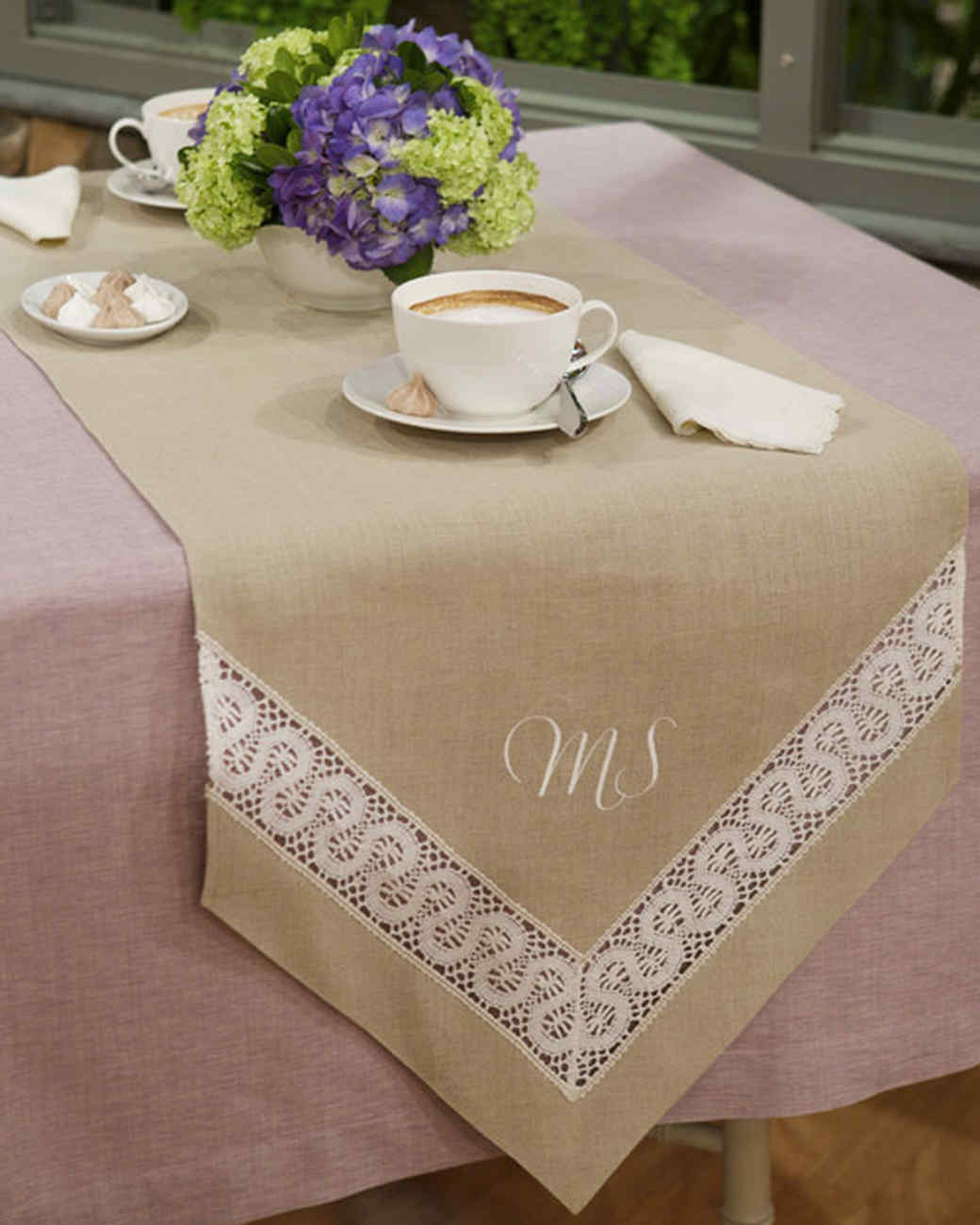 Lace-Inset Table Runner