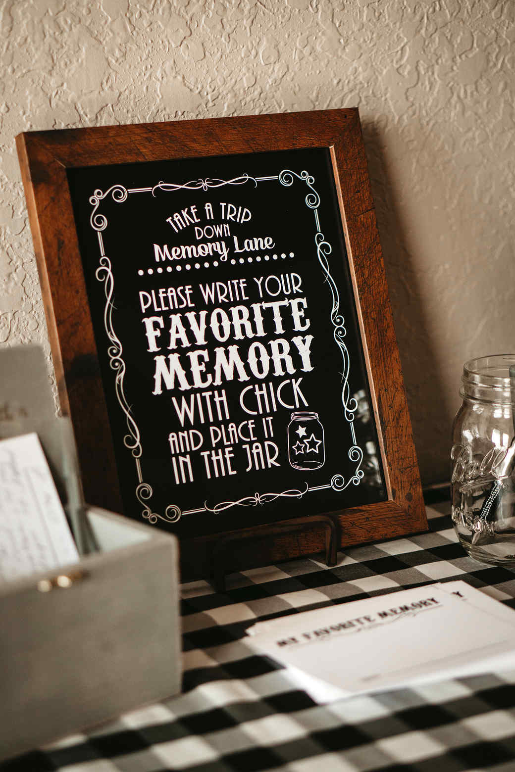 grandfather's 90th birthday chalkboard favorite memories sign